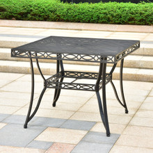 International Caravan Segovia Iron 39-inch Square Dining Table with Umbrella Hole