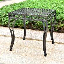 International Caravan Segovia Iron 22-inch Square Side Table