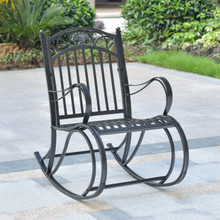International Caravan Segovia Iron Rocking Chair