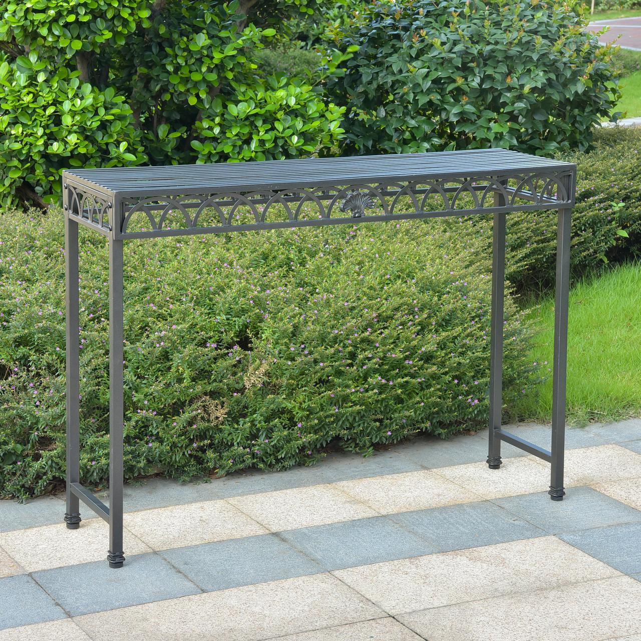 International Caravan Patio Furniture.International Caravan Segovia Iron Console Table