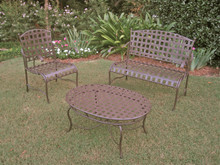 International Caravan Set of 3 Santa Fe Iron Nailhead Settee Group