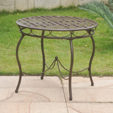 International Caravan Nailhead Iron Bistro Table