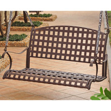 International Caravan Santa Fe Iron Nailhead Hanging Swing