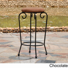 International Caravan Iron29-inch Upholstered Barstool chocolate
