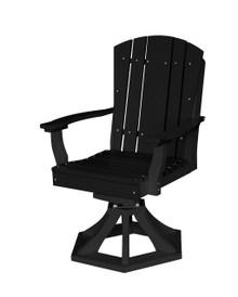 Wildridge Heritage Poly-Lumber Swivel Rocker Dining Chair Black