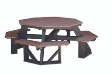 Wildridge Heritage Poly-Lumber Octagon Picnic Table with Benches Attached