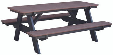 Wildridge Heritage Poly-Lumber Picnic Table with Benches Attached