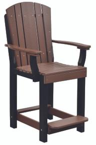 Wildridge Heritage Poly-Lumber Patio Chair Tudor Brown with Black