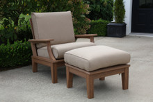 Wildridge Heritage Poly-Lumber Deep Seating Club Chair and Ottoman