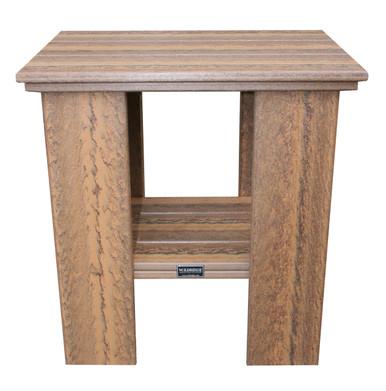 Wildridge Contemporary Poly-Lumber Deep Seat Side Table Bark