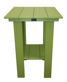 Wildridge Contemporary Poly-Lumber Balcony Table Lime Green