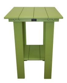Wildridge Contemporary Poly-Lumber Balcony Table Lime Green