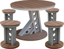 Wildridge Contemporary Poly-Lumber Manhattan Rise Table & 4 Stools