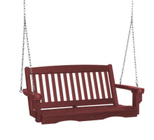 Wildridge Classic Poly-Lumber Mission Swing Cherry Wood