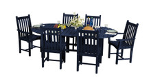 "Wildridge Classic Poly-Lumber 44"" x 84""Dining Table With 4 Dining Side Chairs and 2 Dining Arm Chairs"