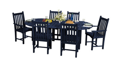 """Wildridge Classic Poly-Lumber 44"""" x 84""""Dining Table With 4 Dining Side Chairs and 2 Dining Arm Chairs"""