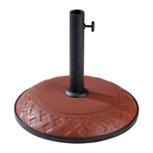 International Caravan Compound Resin Basket Weave Umbrella Stand Terra Cotta