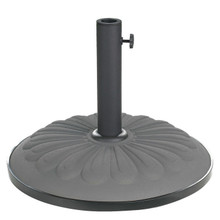 International Caravan Compound Resin Resin Sunflower Umbrella Base Grey