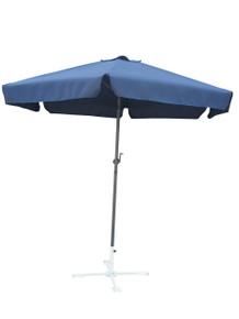 International Caravan Outdoor 8 Foot Aluminum Umbrella Navy