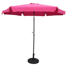 International Caravan Outdoor 9 Foot Aluminum Umbrella With Flaps Berry Berry With Dark Grey Pole
