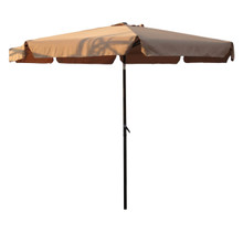 International Caravan Outdoor 10 Foot Aluminum Umbrella With Flaps Khaki