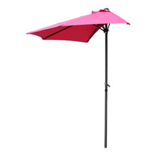 International Caravan Outdoor 9-Foot Half Round Wall Hugger Umbrella