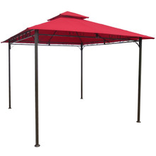 International Caravan Square Vented Canopy Gazebo Ruby Red