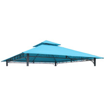 International Caravan St. Kitts Replacement Canopy for 10 ft. Canopy Gazebo Aqua Blue