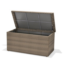 Forever Patio Barbados Wicker Barbados Cushion Storage Box Biscuit