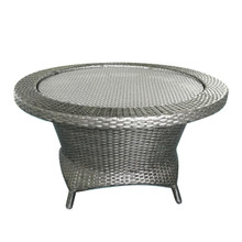 Forever Patio Barbados Wicker Barbados Rotating Chat Table Heather