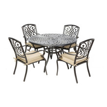 "Alfresco Home Barcelona Dining Set With 48"" Round Dining Table"