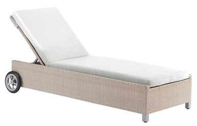 Hospitality Rattan Rubix Chaise Lounge with Cushion
