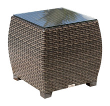 Hospitality Rattan Fiji End Table with Glass