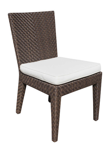 Hospitality Rattan Soho Patio Dining Side chair with Cushion