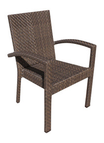 Hospitality Rattan Soho Patio Stackable Armchair