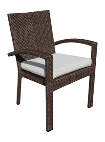Hospitality Rattan Soho Patio Stackable Armchair with Cushion