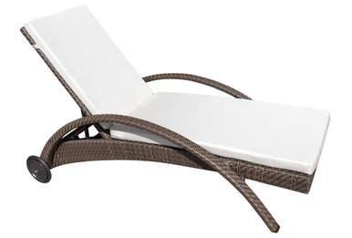 Hospitality Rattan Soho Patio Chaise Lounge with Cushion