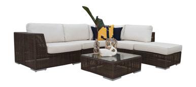 Hospitality Rattan Soho 6 PC Sectional Set Deep Seating Group
