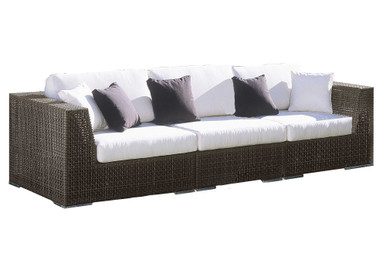Hospitality Rattan Soho Sofa 3 PC Set Deep Seating Group