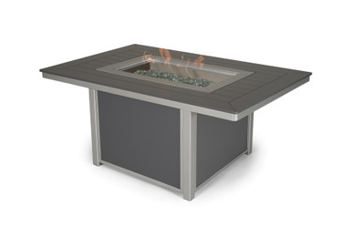 """Telescope Casual 36"""" X 54"""" MGP Chat Height Fire Table"""