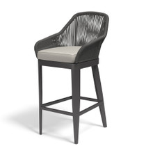 Milano Barstool with cushions in Echo Ash