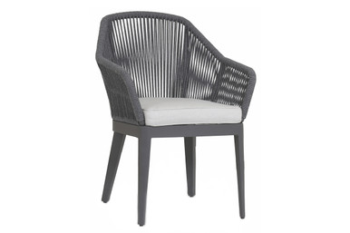 Milano Dining Chair with cushions in Echo Ash
