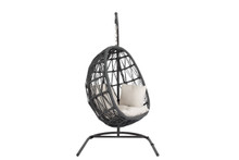 Milano Hanging Chair with cushions in Echo Ash