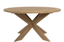 "56"" Round Dining Table in Coastal Teak"