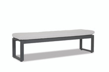 Redondo Dining Bench with Cast Silver Cushion