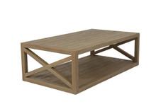 X Coffee Table in Coastal Teak