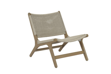 Coastal Teak Cushionless Accent Chair