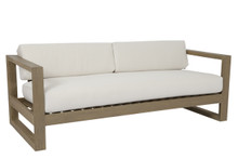 Coastal Teak Sofa with cushions in Canvas Canvas