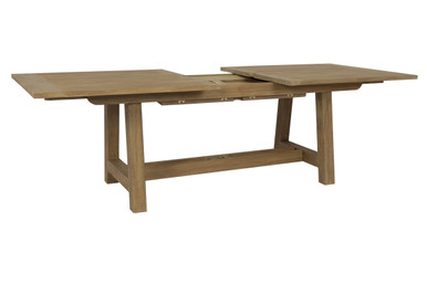 Dining Table with Leaf Extension in Coastal Teak