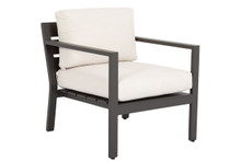 Mesa Club Chair with cushions in Cast Pumice
